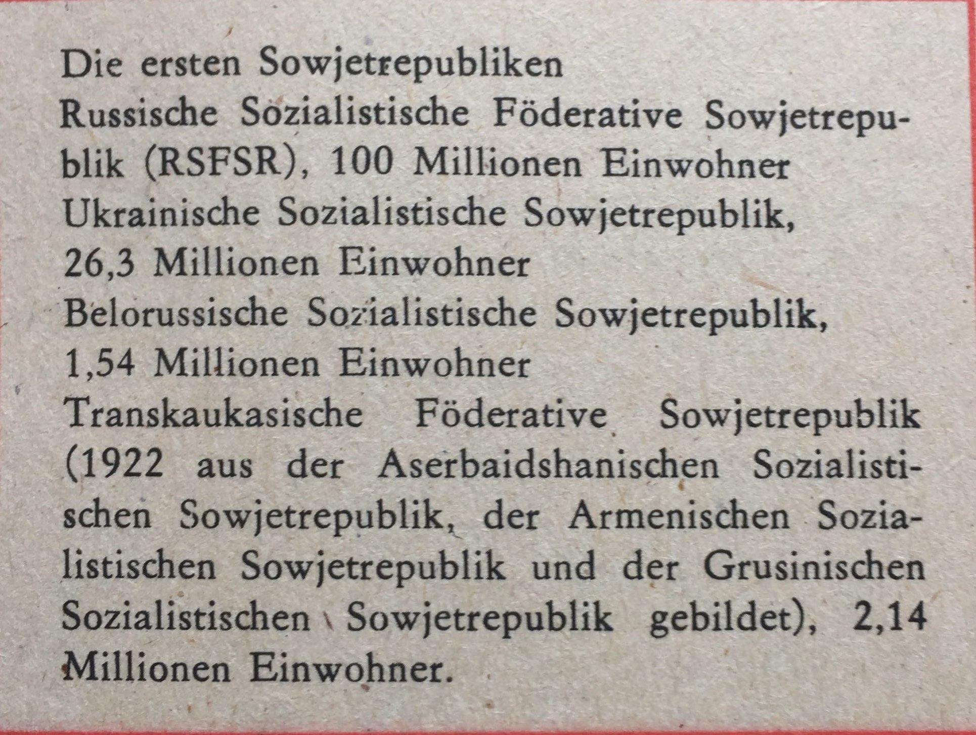 Die ersten Sowjetrepubliken