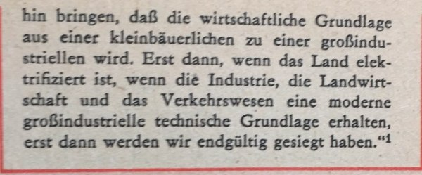 Lenin zu Elektrifizierung 1920 2