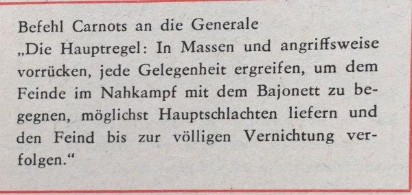 Befehl Carnots an die Generäle