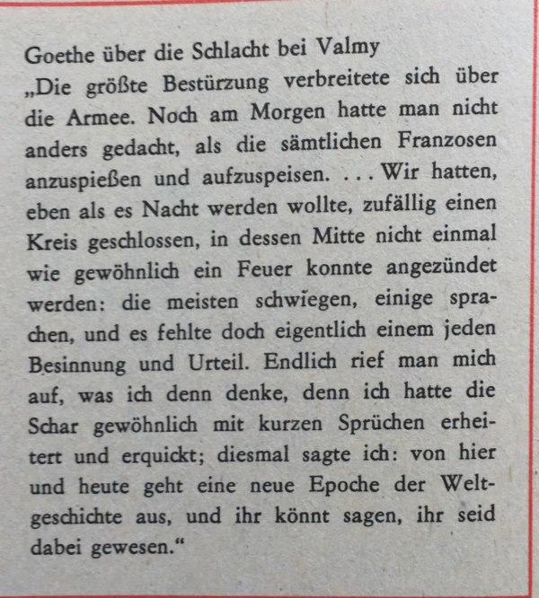 Goethe über Schlacht bei Valmy