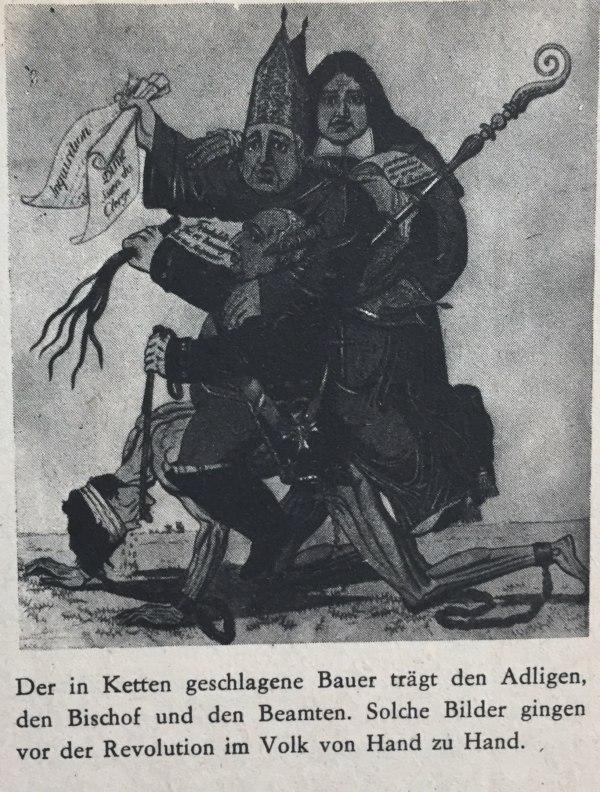 Karikatur vor Revolution in Frankreich