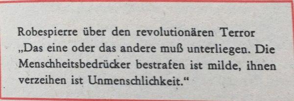 Robespierre über revolutionären Terror