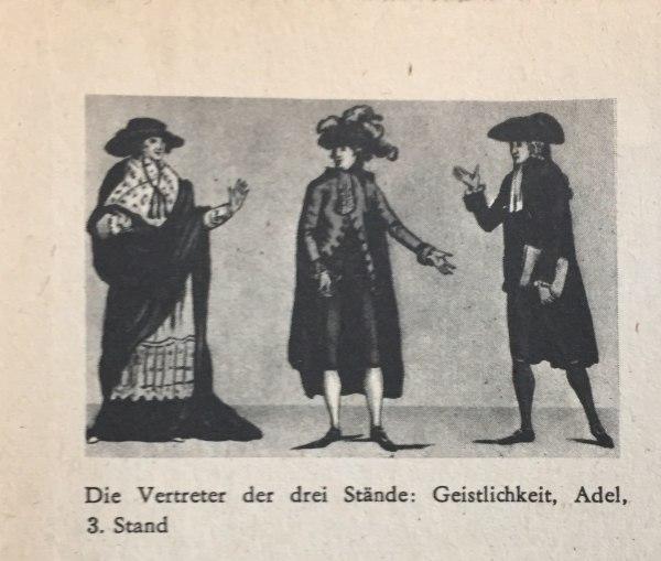 Vertreter der drei Stände