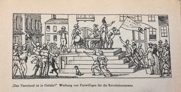 Werbung von Freiwilligen für Revolutionsarmee