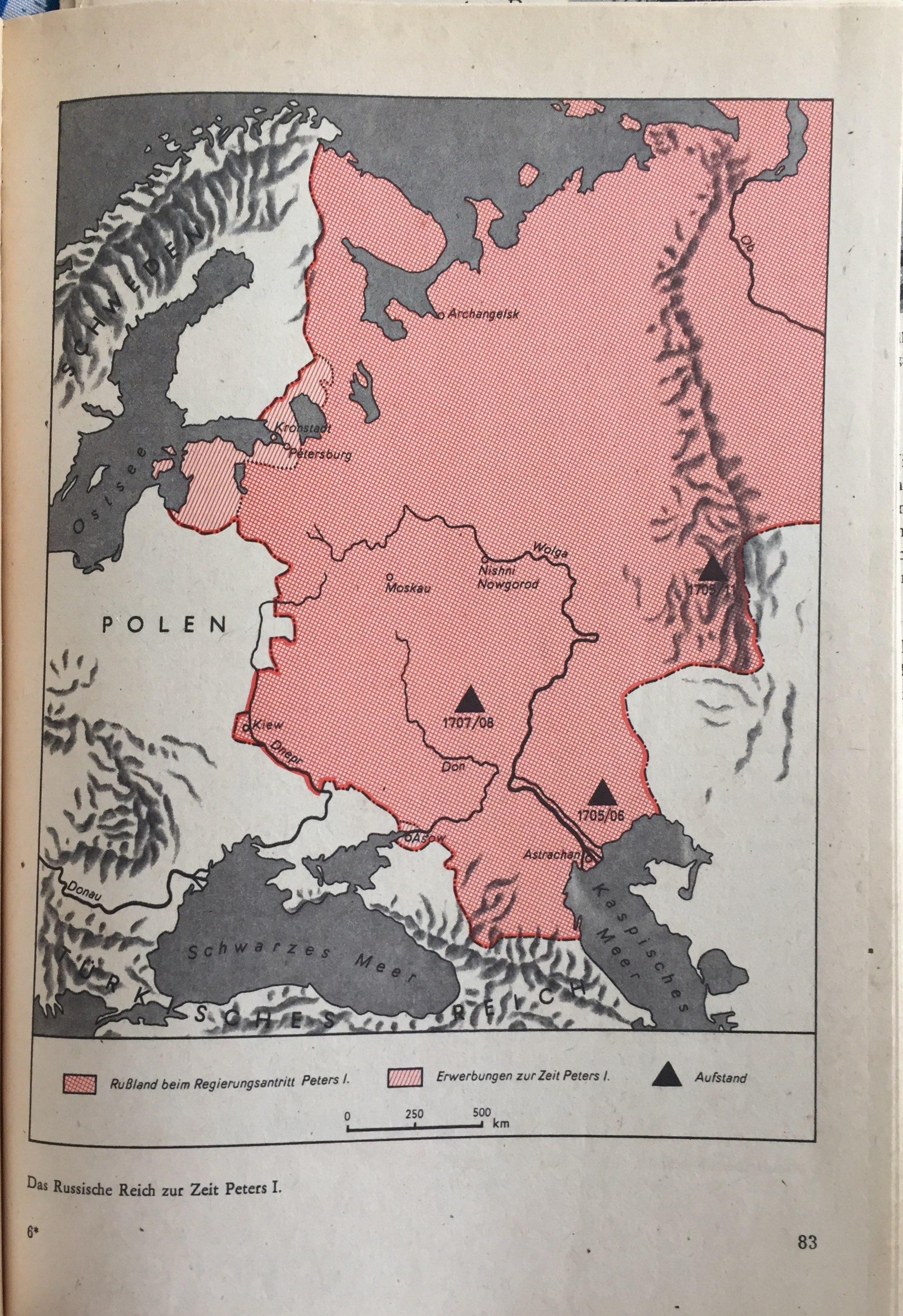 Das russische Reich zur Zeit Peters I.