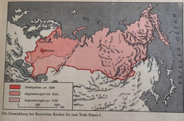 Entwicklung des russischen Reiches bis zum Tode Peters I.