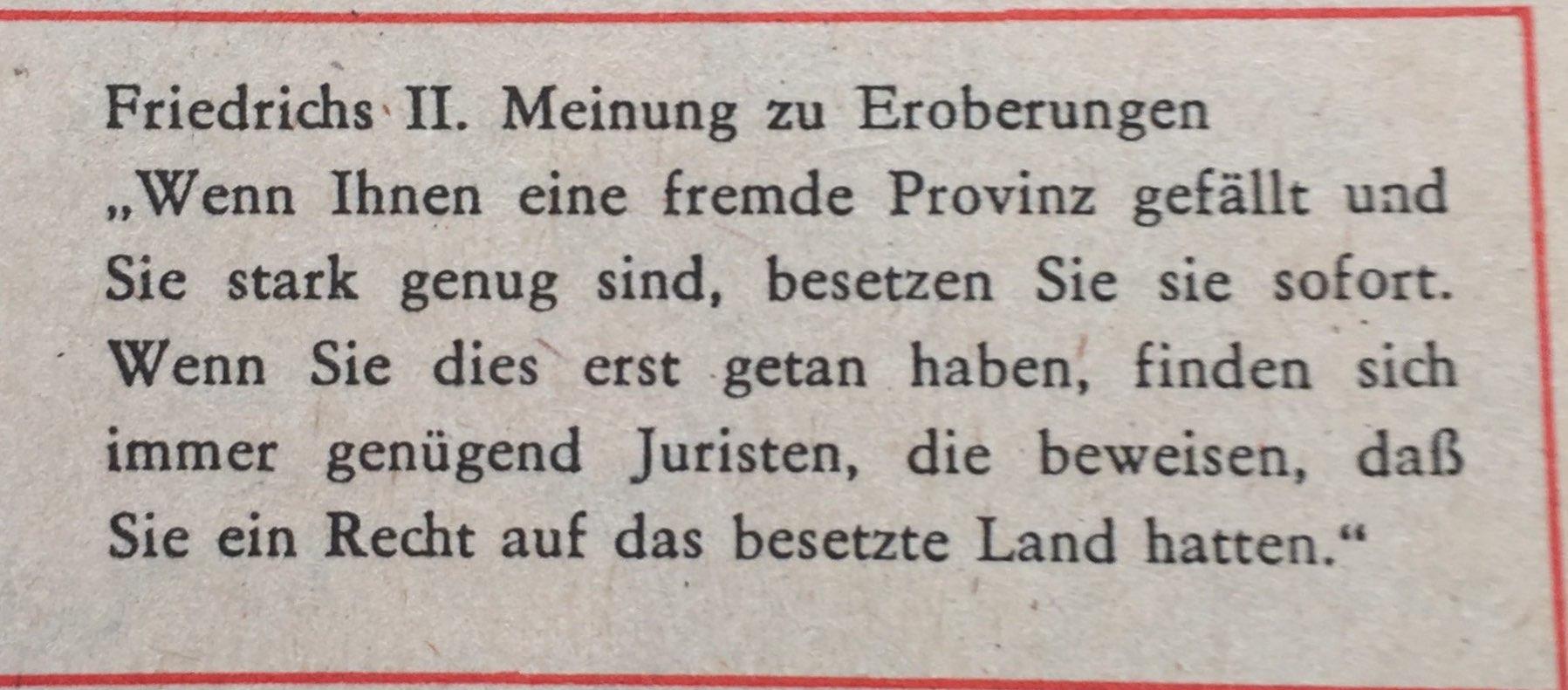 Friedrich II. zu Eroberungen