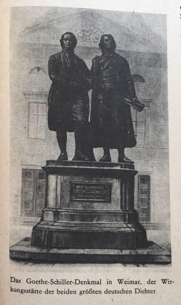 Goethe-Schiller-Denkmal in Weimar