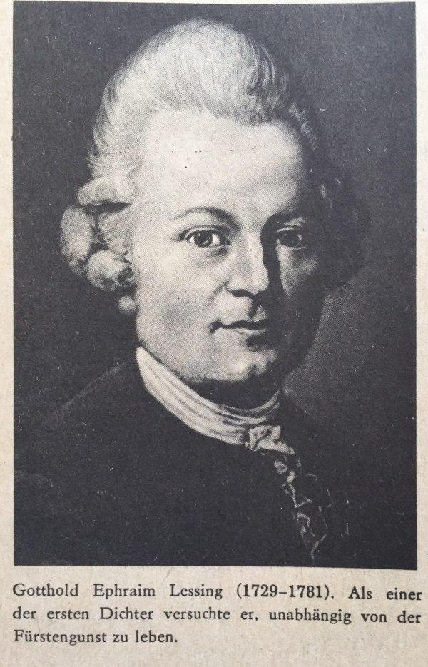 Gotthold Ephraim Lessing (1729-1781)