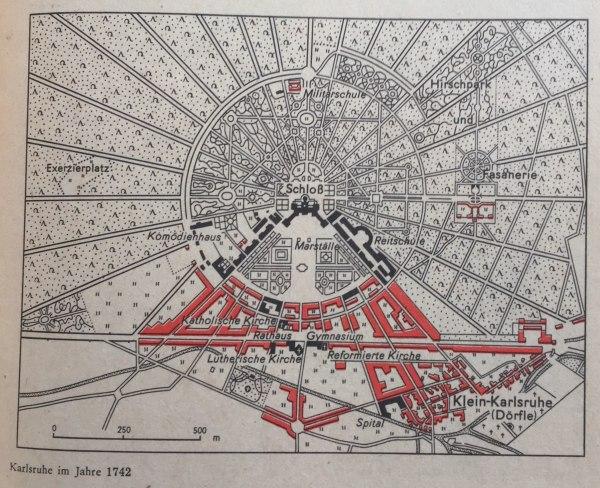 Karlsruhe im Jahre 1742