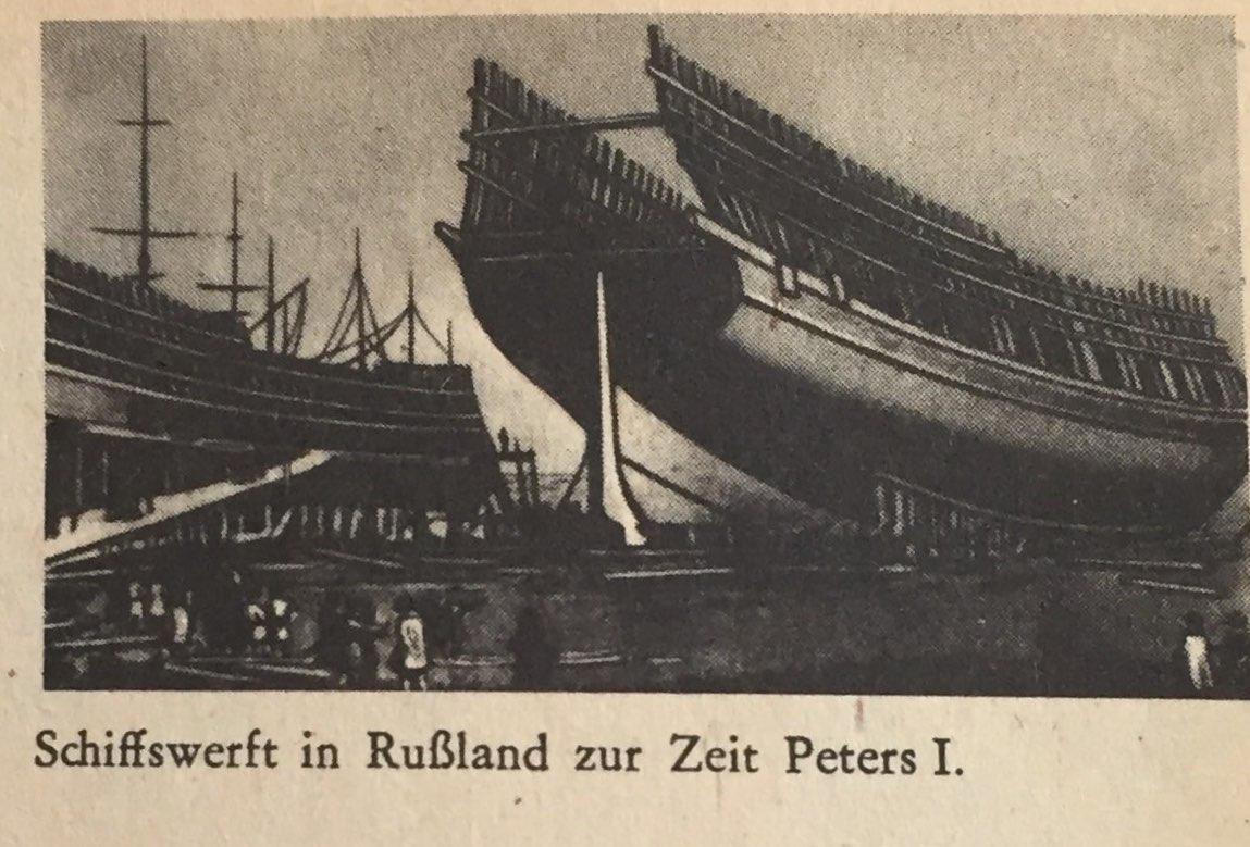 Schiffswerft zur Zeit Peters I.