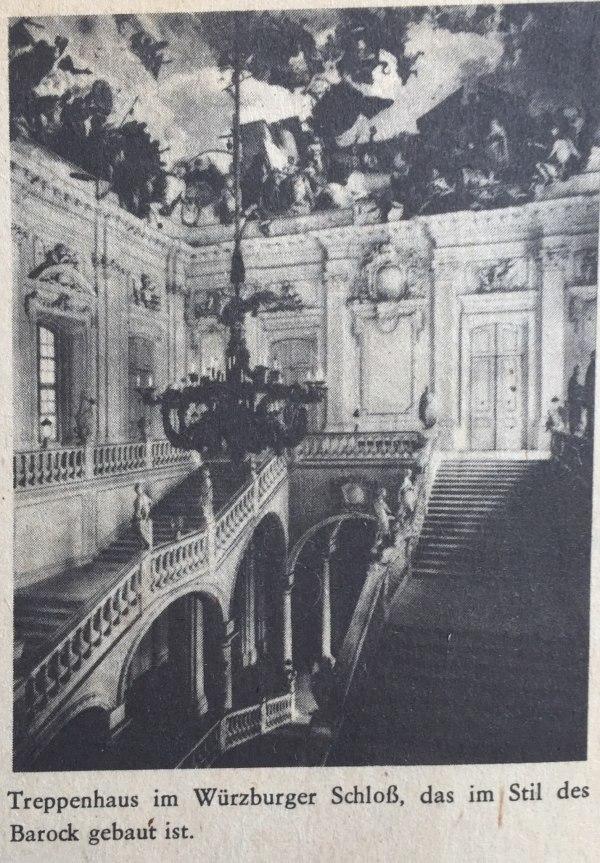 Treppenhaus im Würzburger Schloss