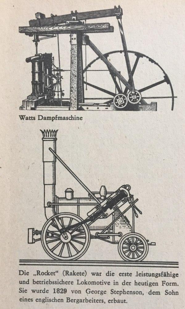 Dampfmaschine und erste Lok