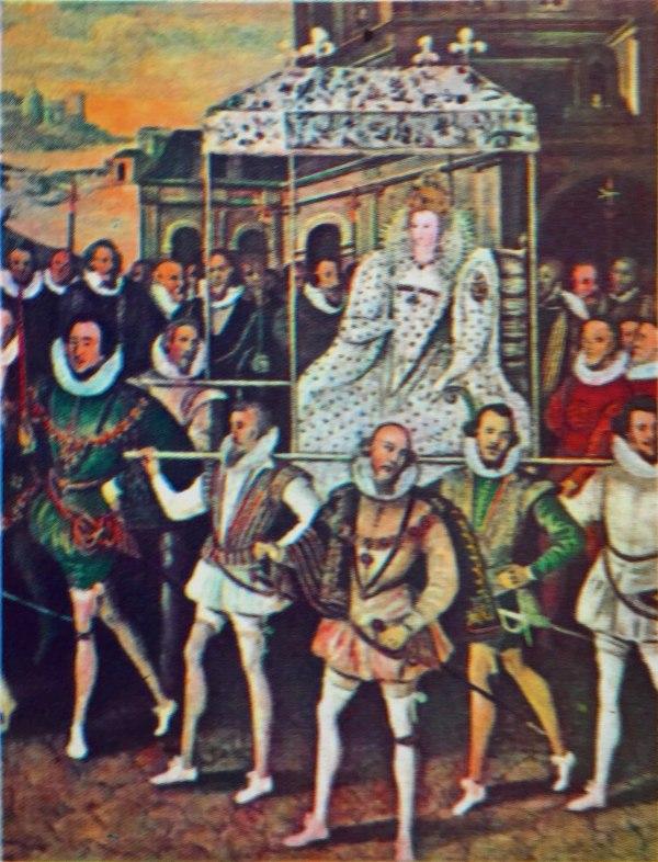 Elisabeth I. bei Dankgottesdienst Sieg über spanische Armada