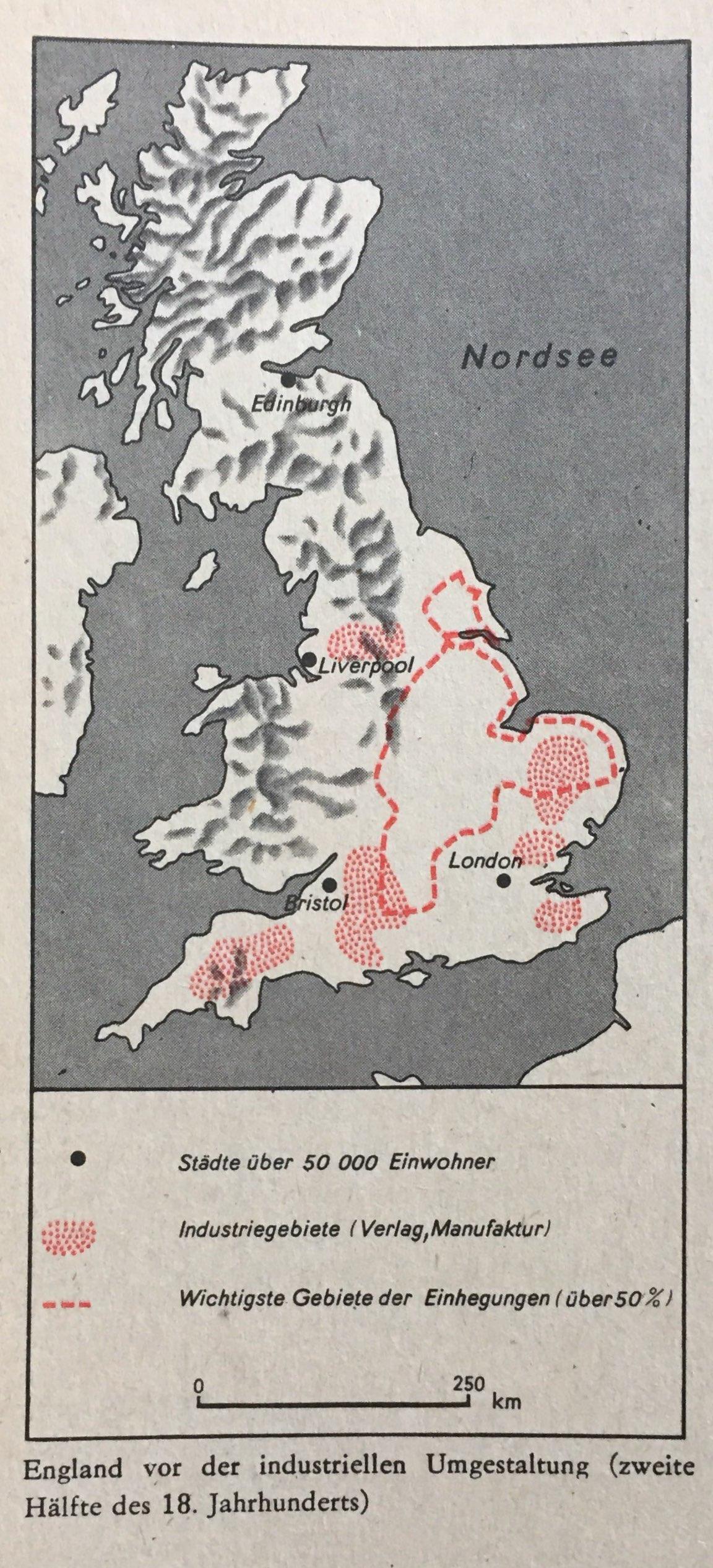 England vor der industriellen Umgestaltung