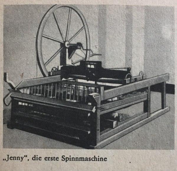 Erste Spinnmaschine