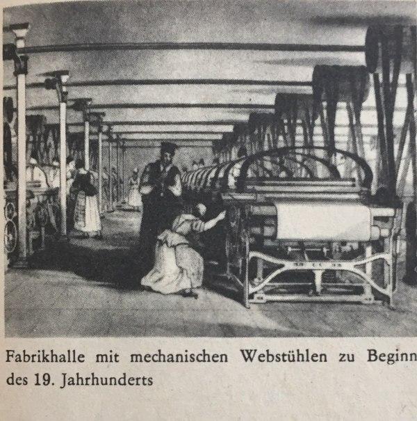 Fabrikhalle Beginn 19. Jahrhundert