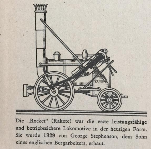 Lok von George Stephenson