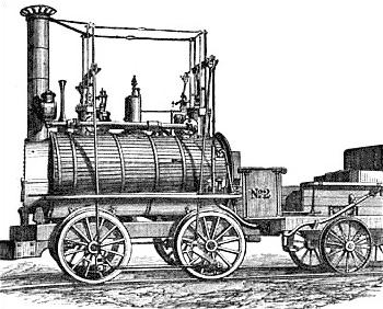 """Lokomotive """"Blücher"""" von George Stephenson, 1814"""