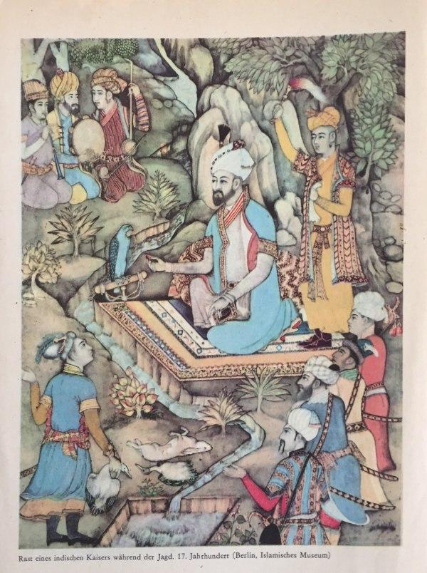 Rast eines indischen Kaisers während der Jagd