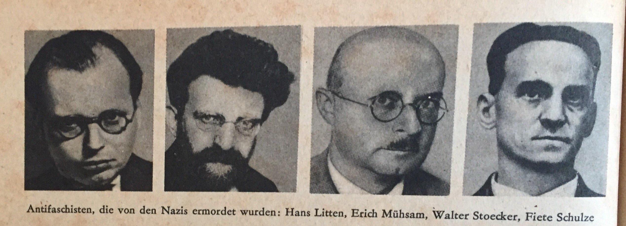 Antifaschisten, die von Nazis ermordet wurden Kopie