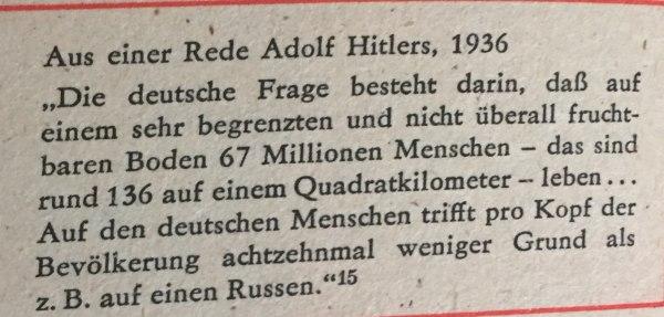 Aus Hitlerrede 1936