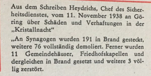 Aus Schreiben Heydrichs 1938