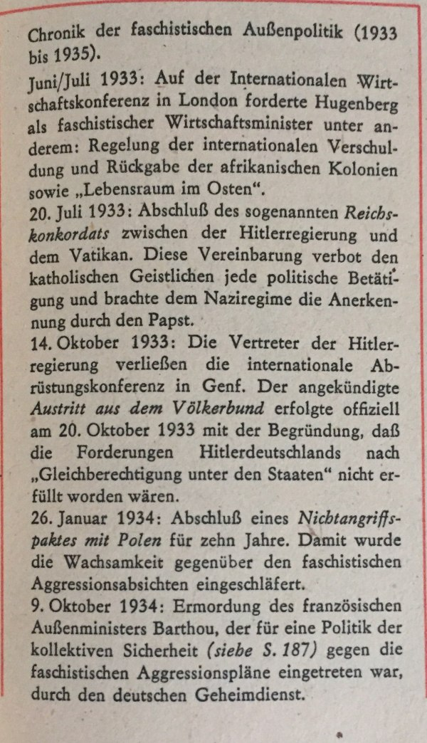 Chronik faschistische Außenpolitik 1933-1935