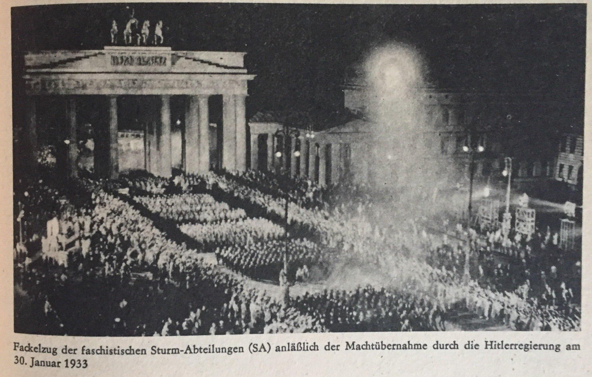 Die Errichtung und Festigung der faschistischen Diktatur in Deutschland