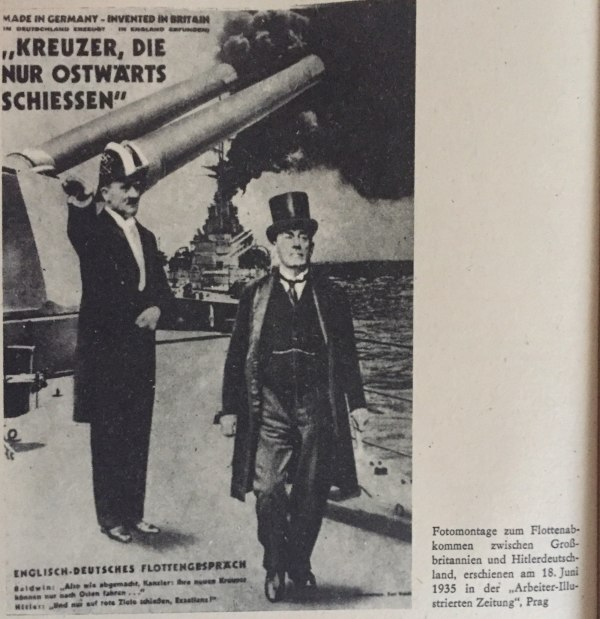 Fotomontage Flottenabkommen Großbritannien -Hitlerdeutschland