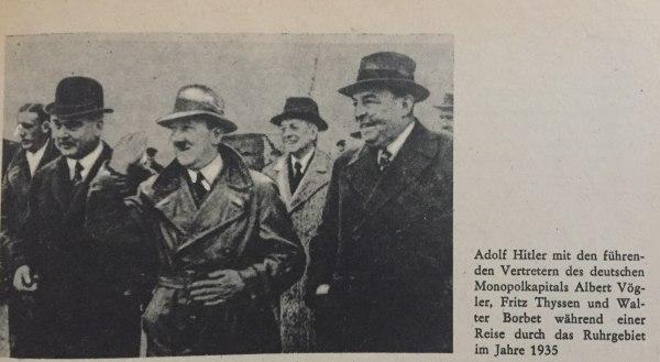 Hitler mit Vertretern des Monopolkapitals 1935