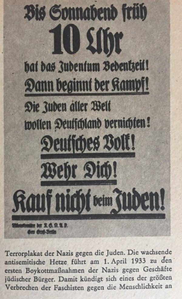 Plakat gegen Juden