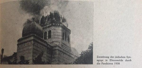 Zerstörung Synagoge in Eberswalde 1938
