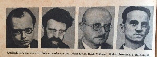 Antifaschisten, die von Nazis ermordet wurden