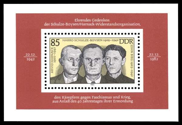 Briefmarke DDR Gedenken Rote Kapelle