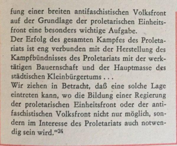Georgi Dimitroff über Einheits- und Volksfront 2