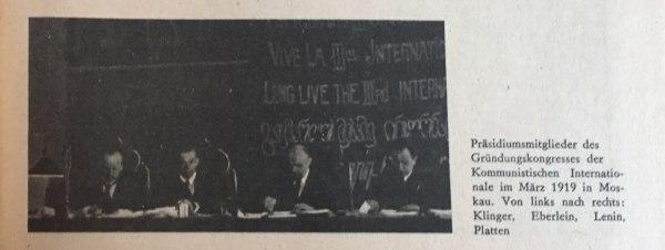 Präsidiumsmitglieder Gründungskongress Kommunistische Internationale
