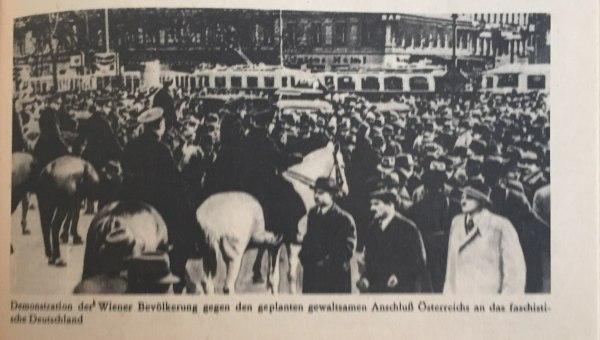 Demo gegen Anschluss Österreichs an Hitlerdeutschland Kopie