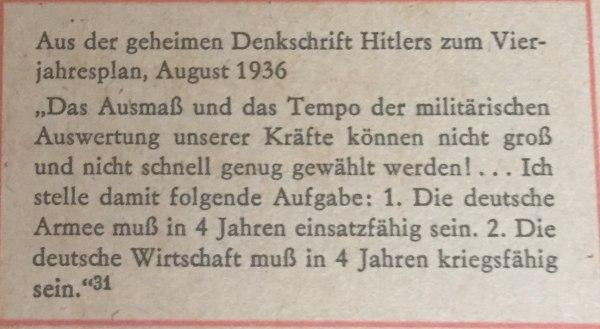 Geheime Denkschrift Hitlers Kopie