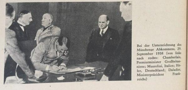 Unterzeichnung des Münchener Abkommens Kopie