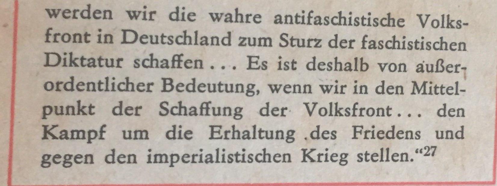 Wilhelm Pieck über Volksfront 2