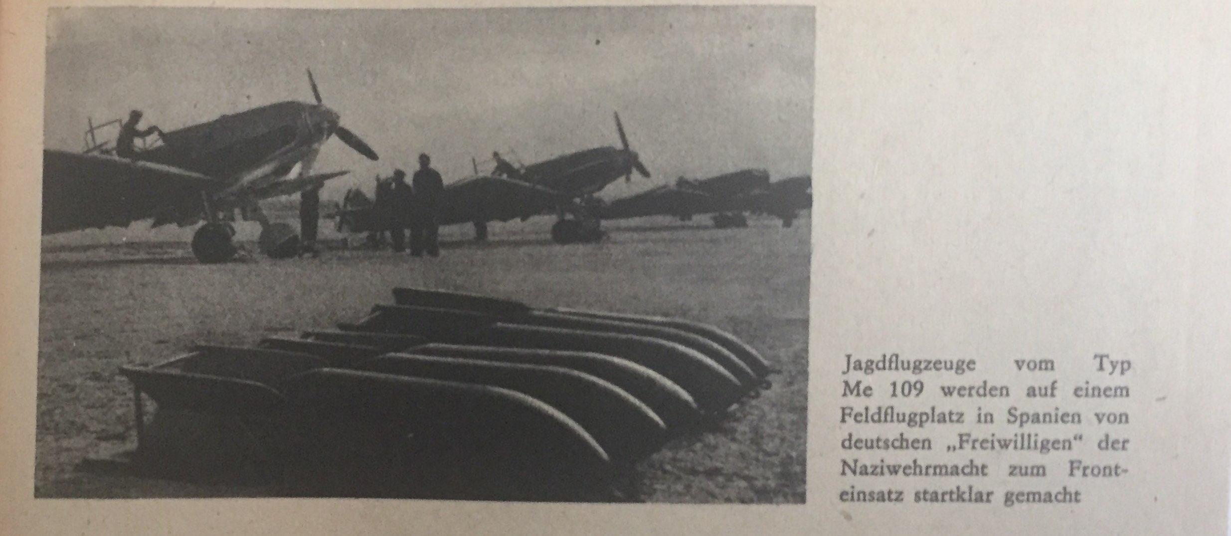 Jagdflugzeuge der deutschen Faschisten in Spanien Kopie
