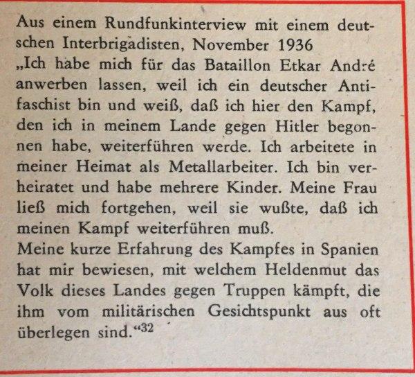 Radiointerview mit deutschem Interbrigadisten