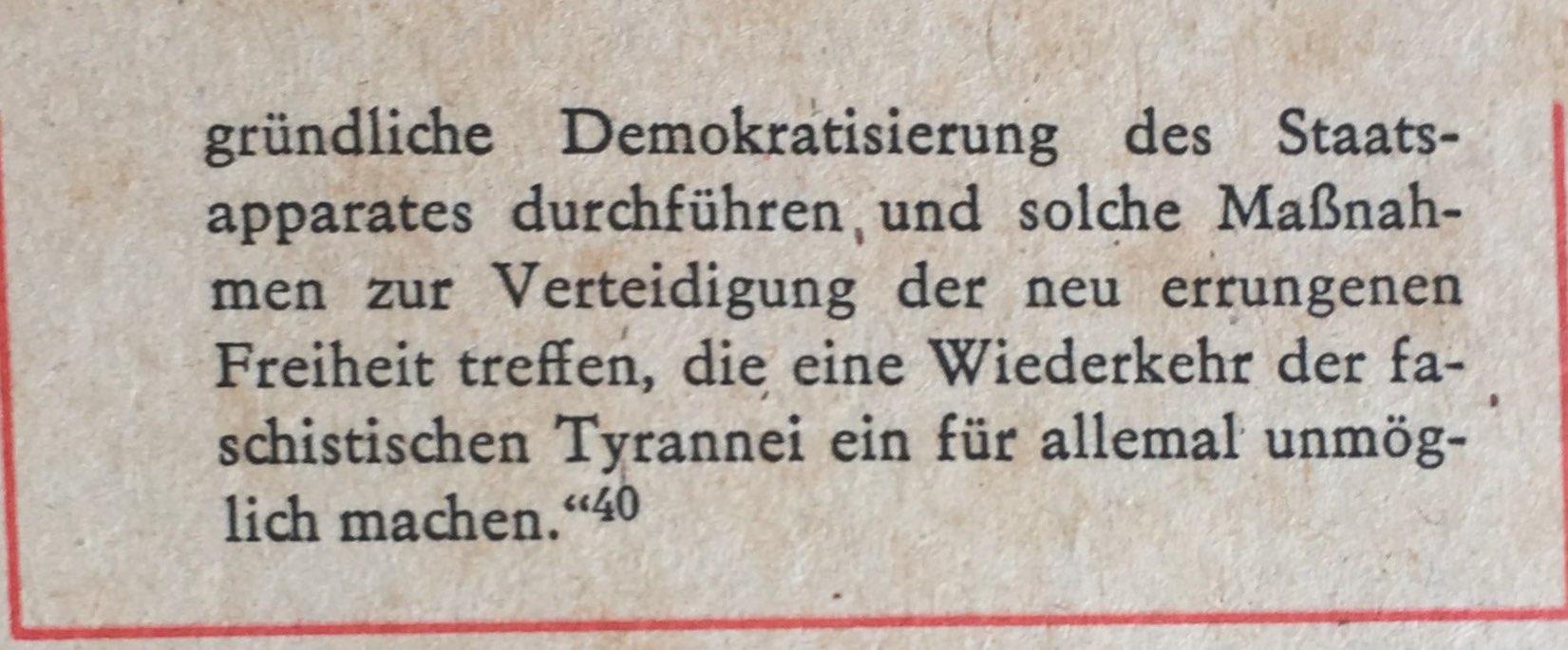 Berner Resolution Programm demokratische Republik 2