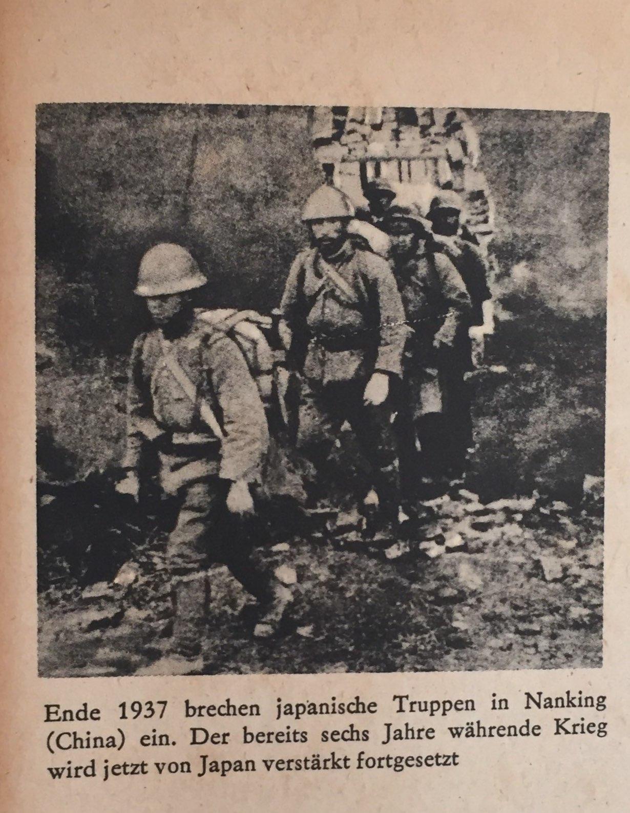 Ende 1937 japanische Truppen brechen in Nanking(China)ein