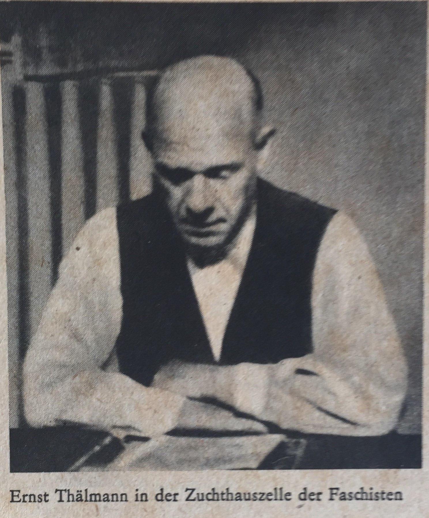 Ernst Thälmann in Zuchthaus der Faschisten