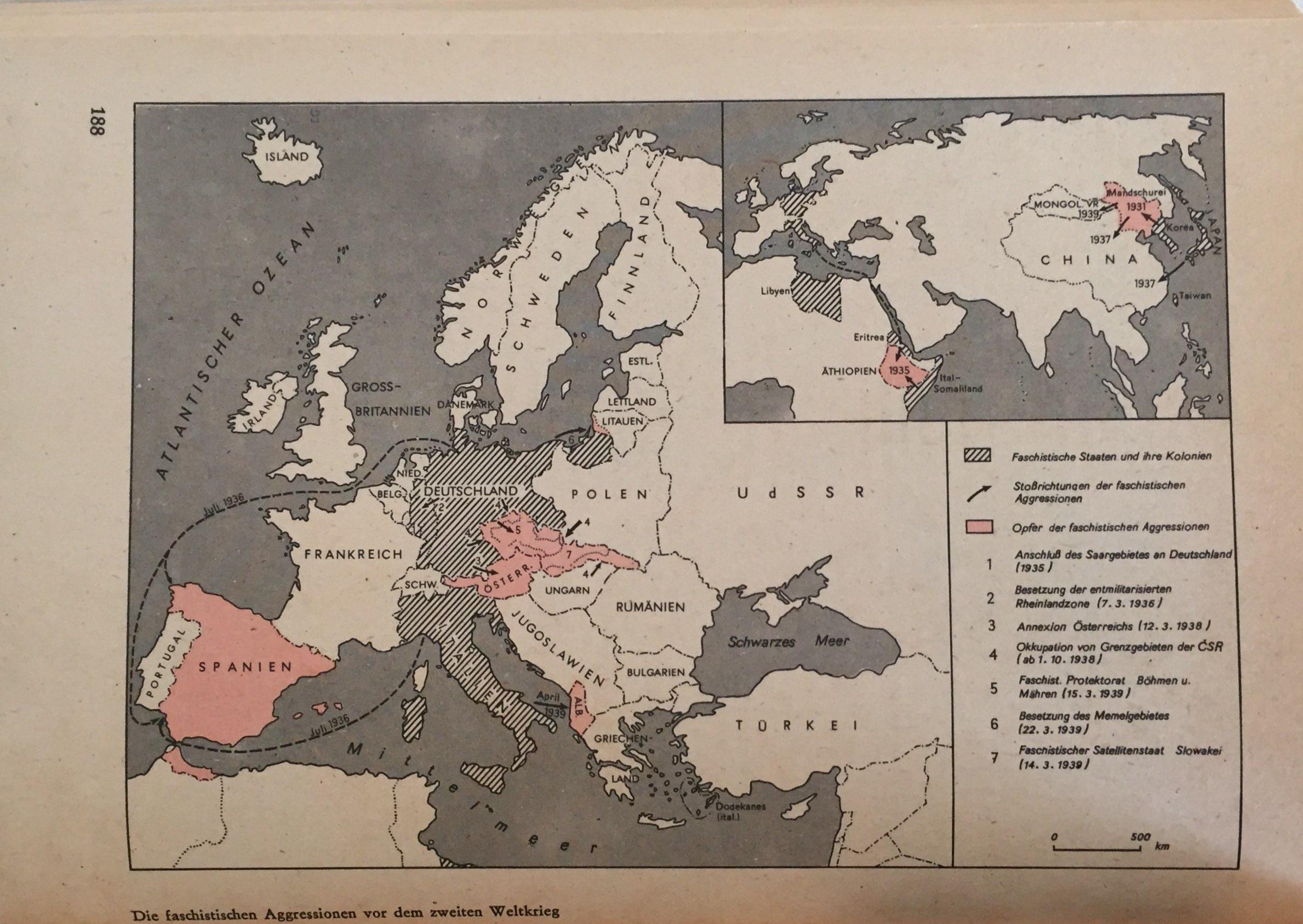 Die Verschärfung der Kriegsgefahr in Europa. Die Anstrengungen der Sowjetunion um ein System der kollektiven Sicherheit