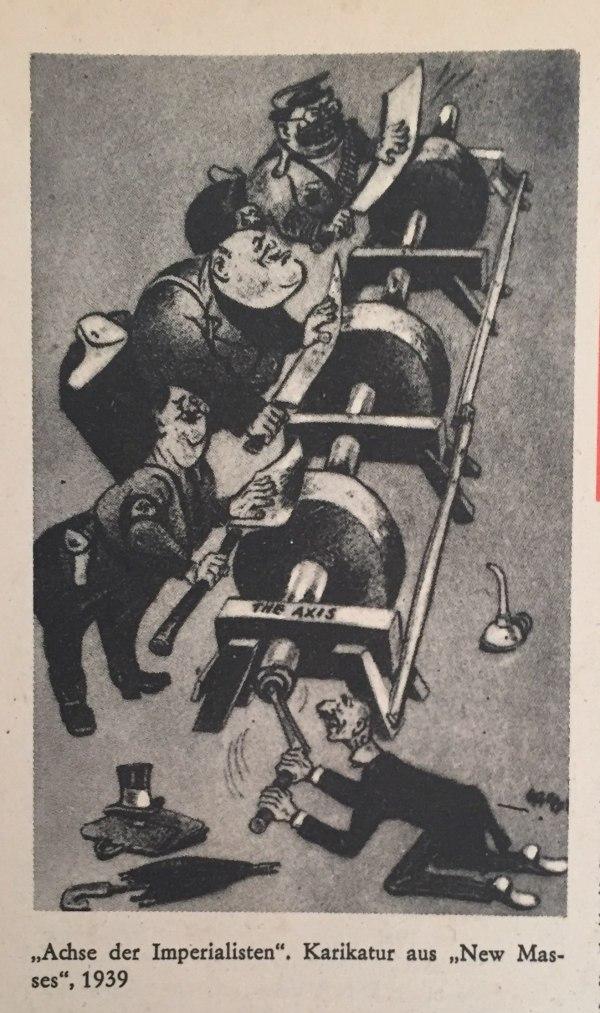 Karikatur -Achse der Imperialisten-