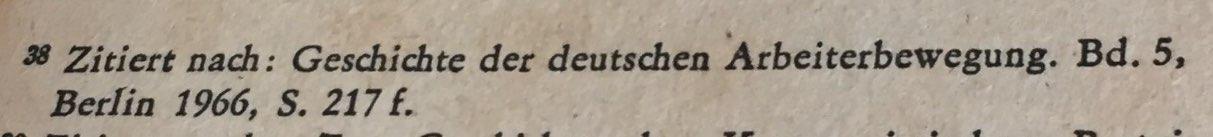 Quellenangabe Referat Wilhelm Pieck auf Berner Konferenz