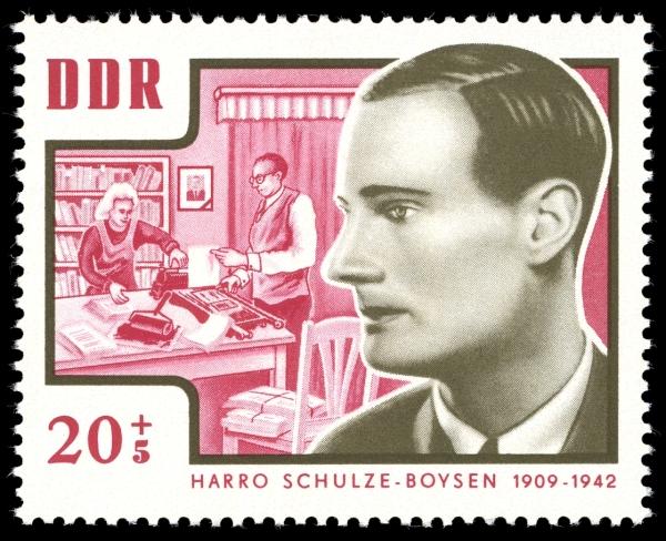 20+5 Pfennig-Sondermarke der DDR-Post 1964 mit Harro Schulze-Boysen